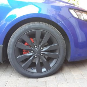 Red Calipers and Black Rims