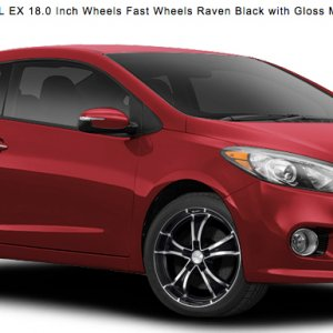 "Part of our deal was getting this very 'snice 18"" FAST Raven wheels on Falken Azenis summer tires.  We had to put the all-seasons back on before"