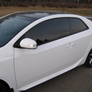Koup SX-R Black painted roof, white painted door handles, and Sequence-X GT spoiler.