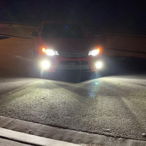 Low Beam with DRL's which installed LED's also