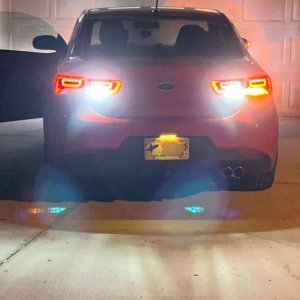 2400lm LED Reverse lights I just installed. Let me tell you they are bright. If you can't see me backing out you must be blind