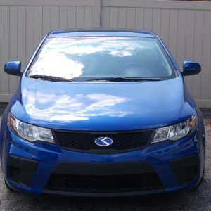 my new kia with the Blue K