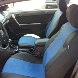 Blue and Black leather seat covers