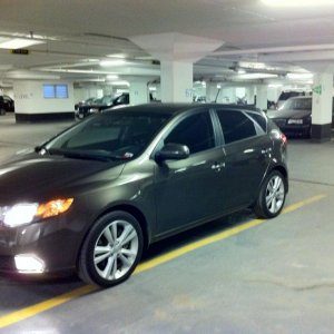 2011 Forte SX Hatchback, 6speed 2.4L -- plate covers and window tint.