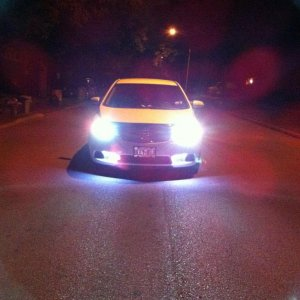 HIDs headlights and LED stripes bottom effect