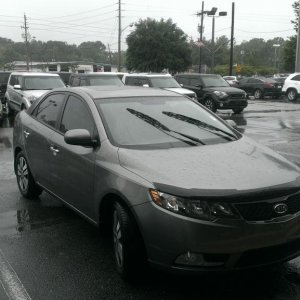 I think she likes this one even more.  Platinum 2013 Kia Forte EX